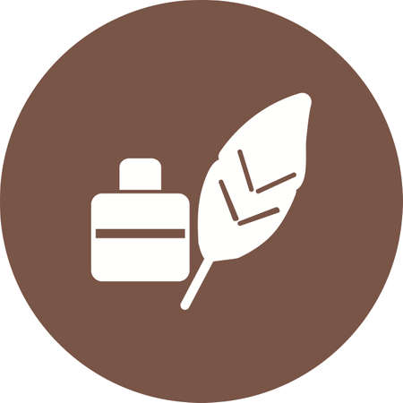 Feather, pen, quill icon vector image.Can also be used for art and designing. Suitable for mobile apps, web apps and print media.
