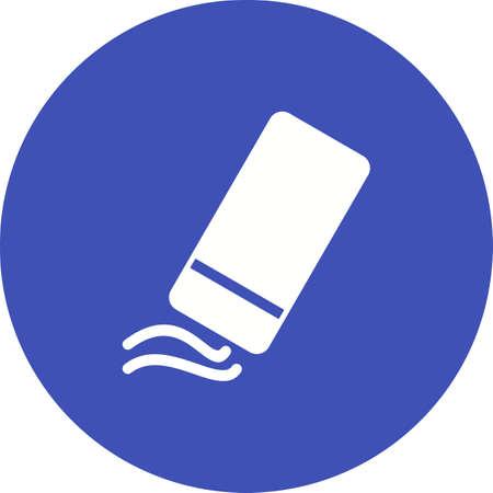 Gum, rubber, potlood pictogram vector image.Can ook worden gebruikt voor kunst en ontwerpen. Geschikt voor mobiele apps, webapps en gedrukte media. Stock Illustratie