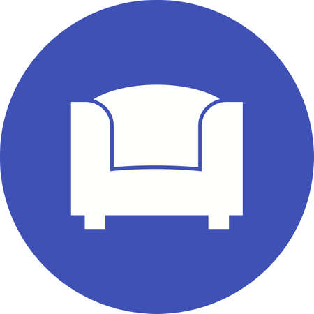cushions: Sofa, furniture, couch icon vector image.Can also be used for furniture design. Suitable for mobile apps, web apps and print media.
