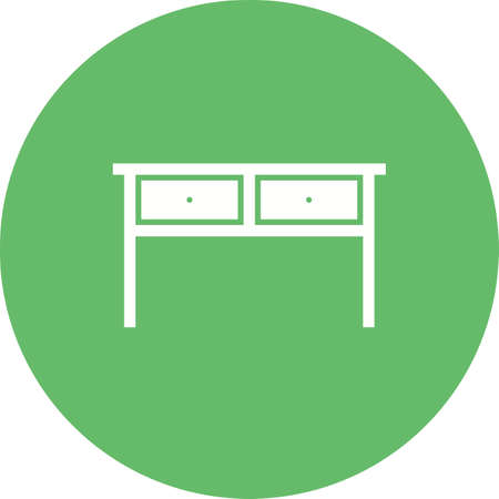 Table, drawer, home icon vector image.Can also be used for furniture design. Suitable for mobile apps, web apps and print media. 向量圖像