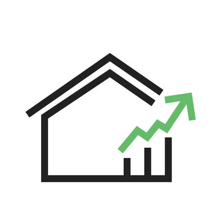 house mortgage: Real estate, house, mortgage icon vector image. Can also be used for real estate, property, land and buildings. Suitable for mobile apps, web apps and print media. Illustration