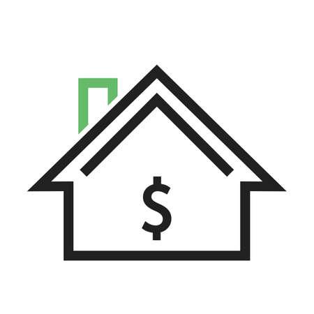 住宅、住宅、プロパティ アイコン ベクトル画像。不動産、財産、土地及び建物の使用もできます。携帯アプリ、web アプリ、印刷メディアに適して