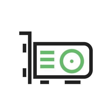 vga: tarjeta de vídeo, tarjeta, imagen del icono del vector vga. También se puede utilizar para la computadora y el hardware. Adecuado para su uso en aplicaciones web, aplicaciones móviles y material de impresión.