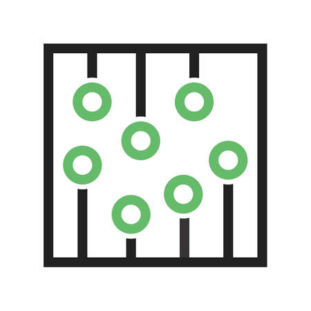 ic: Circuit, ic, processor icon vector image. Can also be used for computer and hardware. Suitable for use on web apps, mobile apps and print media.
