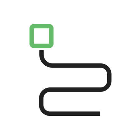 ethernet: Cable, cord, wire icon vector image. Can also be used for computer and hardware. Suitable for use on web apps, mobile apps and print media.
