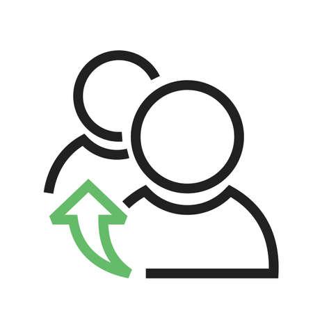 Referidos, referencia, reunida icono vector image.Can también usarse para admin salpicadero. Adecuado para aplicaciones móviles, aplicaciones web y medios impresos.