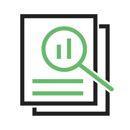 Overzicht, analyse, beoordeling pictogram vector image.Can ook gebruikt worden voor admin dashboard. Geschikt voor mobiele apps, web apps en gedrukte media.