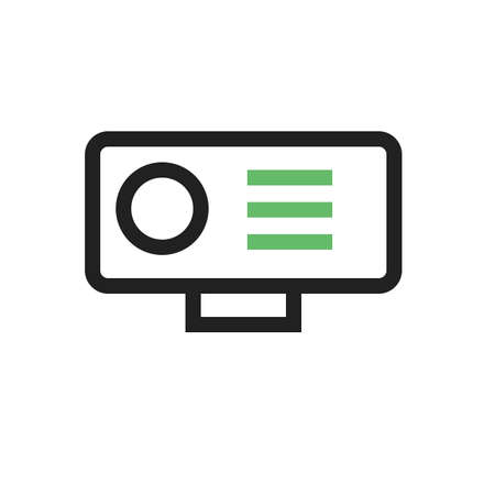 hd: Camera, video, hd icon vector image. Can also be used for computer and hardware. Suitable for use on web apps, mobile apps and print media. Illustration