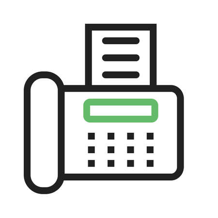 reciept: Fax machine, reciept, telephone, icon vector image.Can also be used for banking, finance, business. Suitable for web apps, mobile apps and print media.