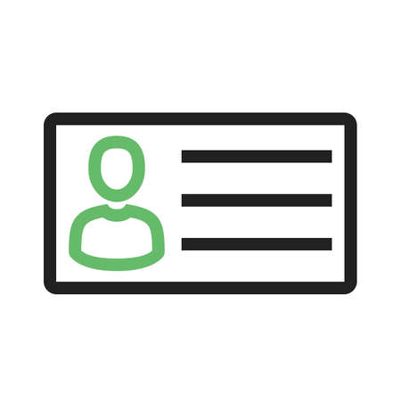 identification: Identity card, information, account icon vector image.Can also be used for banking, finance, business. Suitable for web apps, mobile apps and print media.