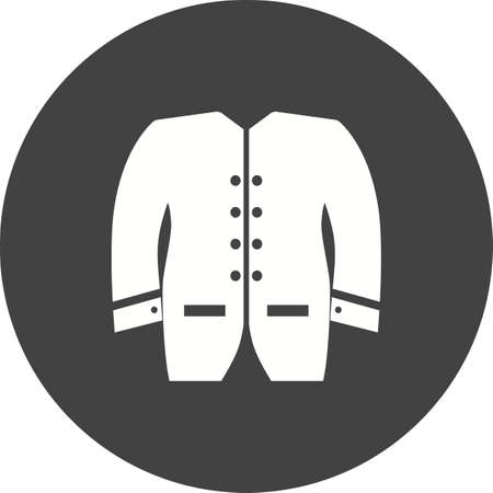 zip hoodie: Mens, jacket, coat icon vector image. Can also be used for clothes and fashion. Suitable for web apps, mobile apps and print media.