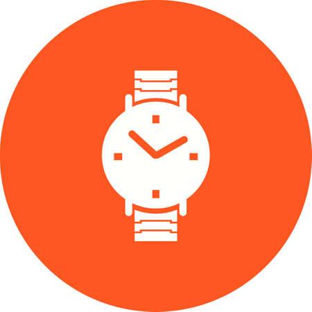 numeros: Imagen del vector del icono del reloj, pulsera, relojes. También se puede utilizar para la ropa y la moda. Adecuado para aplicaciones web, aplicaciones móviles y los medios impresos. Vectores