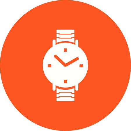 numbers: Watch, wrist, watches icon vector image. Can also be used for clothes and fashion. Suitable for web apps, mobile apps and print media.