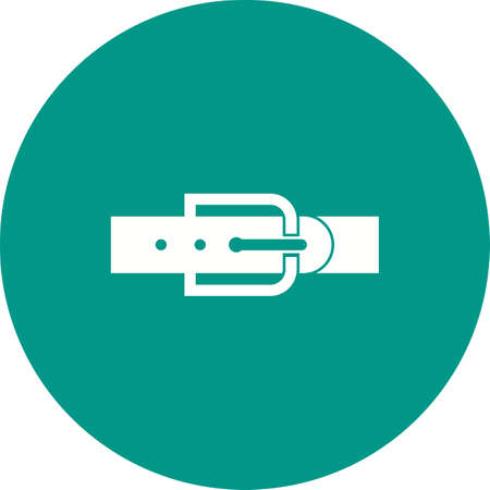waistband: Belt, leather, buckle icon vector image. Can also be used for clothes and fashion. Suitable for web apps, mobile apps and print media.