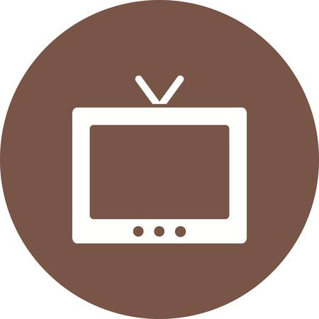 tv scherm: Television, tv, screen icon vector image. Can also be used for household objects. Suitable for use on web apps, mobile apps and print media.