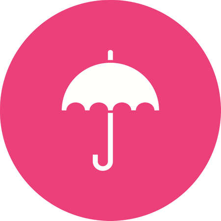 fall protection: Umbrella, fashion, rain icon vector image. Can also be used for household objects. Suitable for use on web apps, mobile apps and print media. Illustration