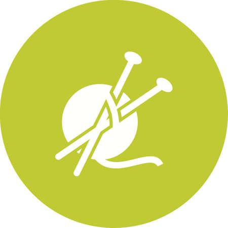 objetos de la casa: Lana, imagen vectorial suave, icono de la artesan�a. Tambi�n se puede utilizar para objetos dom�sticos. Adecuado para su uso en aplicaciones web, aplicaciones m�viles y material de impresi�n.