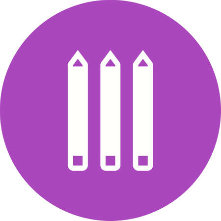 objetos de la casa: L�piz, color, colorido imagen de icono de vector. Tambi�n se puede utilizar para objetos dom�sticos. Adecuado para su uso en aplicaciones web, aplicaciones m�viles y material de impresi�n. Vectores