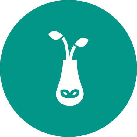 objetos de la casa: Florero, flores, icono ramo vector de imagen. Tambi�n se puede utilizar para objetos dom�sticos. Adecuado para su uso en aplicaciones web, aplicaciones m�viles y material de impresi�n. Vectores