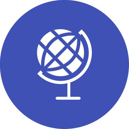 objetos de la casa: Globo, tierra, icono planeta vector de imagen. Tambi�n se puede utilizar para objetos dom�sticos. Adecuado para su uso en aplicaciones web, aplicaciones m�viles y material de impresi�n.