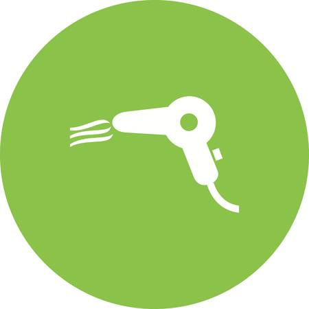 objetos de la casa: Secador de pelo, icono golpe imagen vectorial. Tambi�n se puede utilizar para objetos dom�sticos. Adecuado para su uso en aplicaciones web, aplicaciones m�viles y material de impresi�n.
