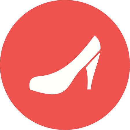 household objects: Heels, shoes, fashion icon vector image. Can also be used for household objects. Suitable for use on web apps, mobile apps and print media.