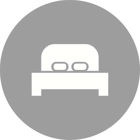 objetos de la casa: Cama, colch�n, la imagen del vector del icono dormitorio. Tambi�n se puede utilizar para objetos dom�sticos. Adecuado para su uso en aplicaciones web, aplicaciones m�viles y material de impresi�n.