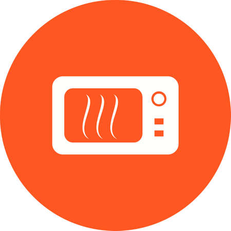 objetos de la casa: Microondas, horno, imagen del vector del icono de la cocina. Tambi�n se puede utilizar para objetos dom�sticos. Adecuado para su uso en aplicaciones web, aplicaciones m�viles y material de impresi�n.