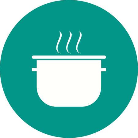objetos de la casa: Pot, cocinar, icono de la sopa de la imagen del vector. Tambi�n se puede utilizar para objetos dom�sticos. Adecuado para su uso en aplicaciones web, aplicaciones m�viles y material de impresi�n.