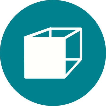 cuboid: Cube, cuboid, mathematics icon vector image. Can also be used for shapes and geometry. Suitable for use on web apps, mobile apps and print media. Illustration