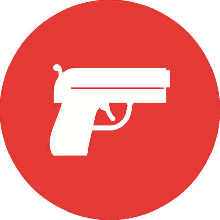use pistol: Gun, pistol, shot icon vector image. Can also be used for military. Suitable for use on web apps, mobile apps and print media.