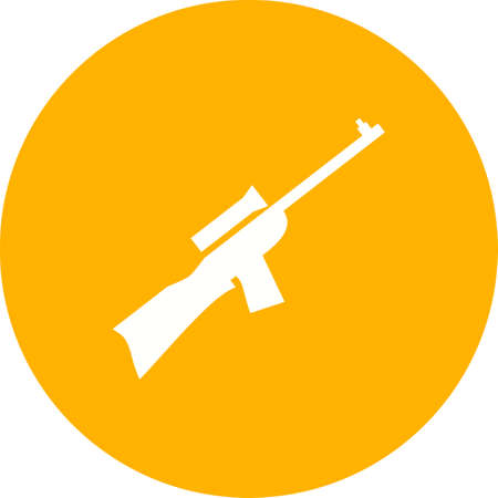 sniper: Sniper, military, rifle icon vector image. Can also be used for military. Suitable for use on web apps, mobile apps and print media.