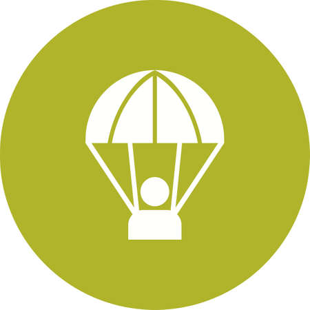 skydiving: Parachute, skydiving, sport icon vector image. Can also be used for military. Suitable for use on web apps, mobile apps and print media.