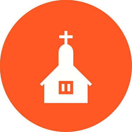 catholicism: Church, cross, easter icon vector image. Can also be used for wedding. Suitable for use on web apps, mobile apps and print media.