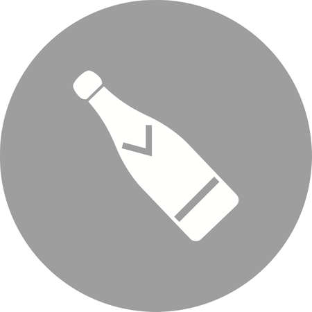 dating icons: Champagne, bottle, wine icon vector image. Can also be used for wedding. Suitable for use on web apps, mobile apps and print media.