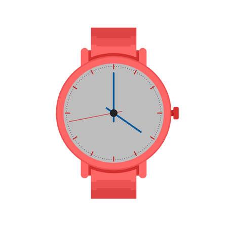Pictogram vector afbeelding horloge, pols, horloges. Kan ook worden gebruikt voor kleding en mode. Geschikt voor web-apps, mobiele apps en gedrukte media. Vector Illustratie