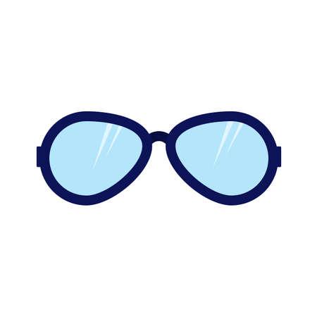 ropa de verano: Gafas de sol, verano, imagen de la moda icono del vector. También se puede utilizar para la ropa y la moda. Adecuado para aplicaciones web, aplicaciones móviles y los medios impresos.