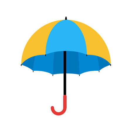 household objects: Umbrella, fashion, rain icon vector image. Can also be used for household objects. Suitable for use on web apps, mobile apps and print media. Illustration