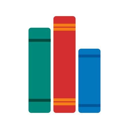 objetos de la casa: Libros, biblioteca, estudio de imagen de icono de vector. Tambi�n se puede utilizar para objetos dom�sticos. Adecuado para su uso en aplicaciones web, aplicaciones m�viles y material de impresi�n. Vectores