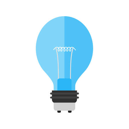 household objects: Bulb, light, lightbulb icon vector image. Can also be used for household objects. Suitable for use on web apps, mobile apps and print media.