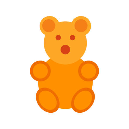 household objects: Teddy, bear, stuffed icon vector image. Can also be used for household objects. Suitable for use on web apps, mobile apps and print media.