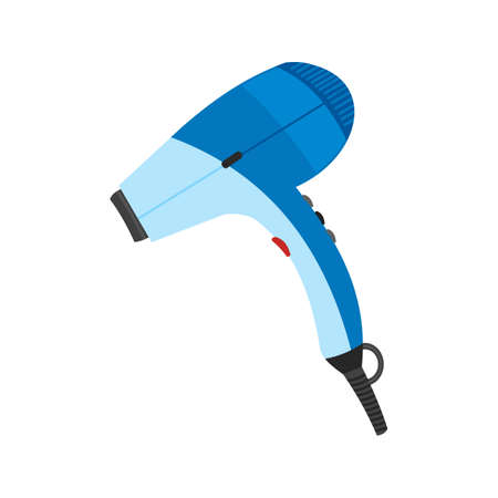 drier: Dryer, hair, blow icon vector image. Can also be used for household objects. Suitable for use on web apps, mobile apps and print media. Illustration
