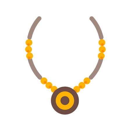 objetos de la casa: Collar, la joyer�a, la imagen del icono del vector de la cadena. Tambi�n se puede utilizar para objetos dom�sticos. Adecuado para su uso en aplicaciones web, aplicaciones m�viles y material de impresi�n.