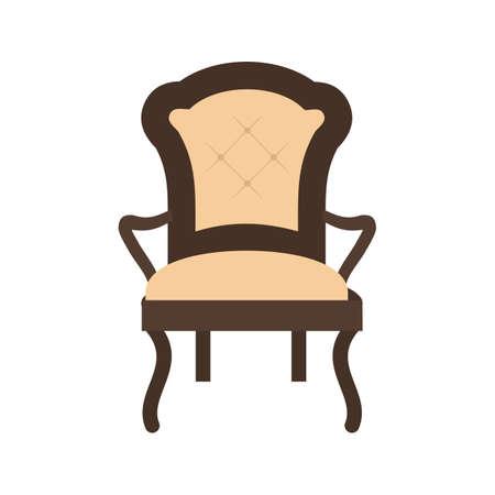 objetos de la casa: Presidente, imagen vectorial moderna, muebles icono. Tambi�n se puede utilizar para objetos dom�sticos. Adecuado para su uso en aplicaciones web, aplicaciones m�viles y material de impresi�n. Vectores