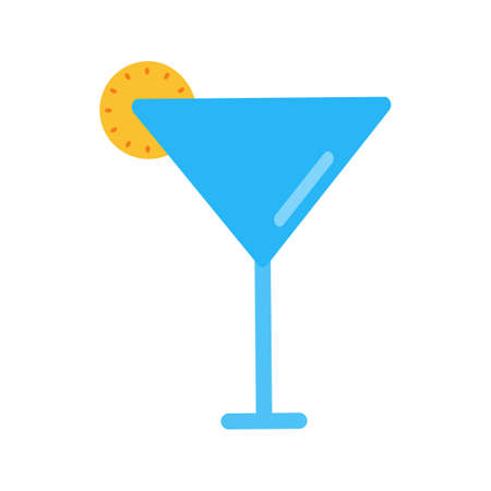 objetos de la casa: C�ctel, vidrio, bebida icono de imagen vectorial. Tambi�n se puede utilizar para objetos dom�sticos. Adecuado para su uso en aplicaciones web, aplicaciones m�viles y material de impresi�n.