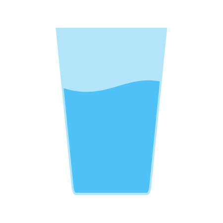 household objects: Water, glass, crystal icon vector image. Can also be used for household objects. Suitable for use on web apps, mobile apps and print media.