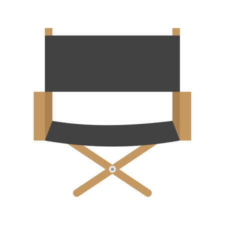 directors: Directors chair, chair, film making icon vector image. Can also be used for multimedia. Suitable for use on web apps, mobile apps and print media.