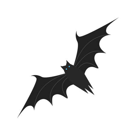 mammals: Bat, mammals, dark icon vector image. Can also be used for Animals and Insects. Suitable for mobile apps, web apps and print media.