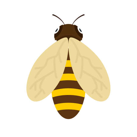 Honeybee, bee, honey icon vector image. Can also be used for Animals and Insects. Suitable for mobile apps, web apps and print media. Vetores