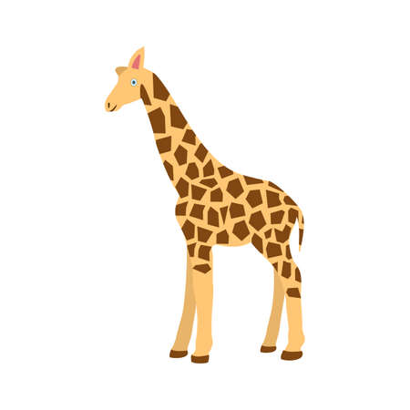giraffa: Giraffe, animal, wildlife icon vector image. Can also be used for Animals and Insects. Suitable for mobile apps, web apps and print media.
